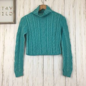 Lululemon Ivivva Cropped Teal Sweater Girls Sz 12